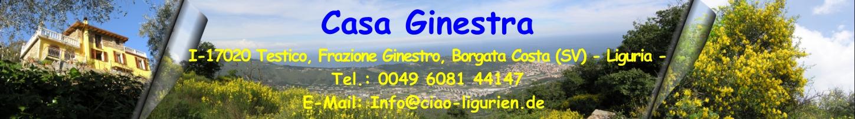 Gästebuch Banner - verlinkt mit http://www.ciao-ligurien.de
